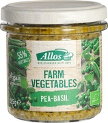 Farm Vegetables erwten en basilicumspread