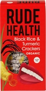 Black rice & tumeric crackers
