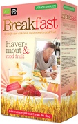 Breakfast havermout-rood fruit