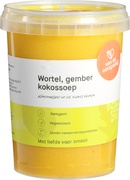 Wortel-gember kokossoep