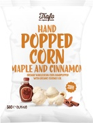 Handpopped corn maple and cinnamon