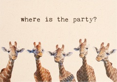 Giraffen, where is the party